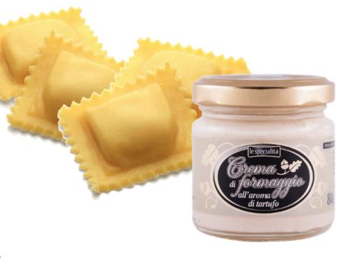 Ravioli con Crema di Formaggio Aroma al Tartufo